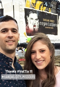 Trevor and Chloe attended Taylor Swift Reputation Tour on Sep 8th 2018 via VetTix