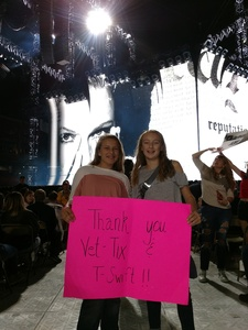 Misty attended Taylor Swift Reputation Tour on Sep 8th 2018 via VetTix