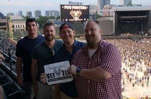 Steven attended Foo Fighters on Jul 30th 2018 via VetTix