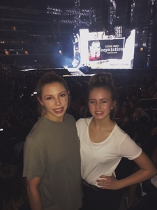 Kimberly attended Taylor Swift Reputation Tour on Oct 6th 2018 via VetTix