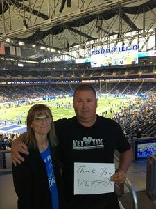 William attended Detroit Lions vs. Cleveland Browns - NFL Preseason on Aug 30th 2018 via VetTix