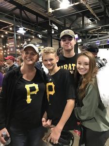 Megan attended Colorado Rockies vs. Pittsburgh Pirates - MLB on Aug 6th 2018 via VetTix
