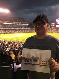 Dennis attended Colorado Rockies vs. Pittsburgh Pirates - MLB on Aug 6th 2018 via VetTix