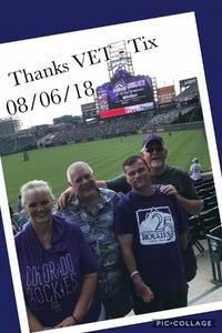 Willie attended Colorado Rockies vs. Pittsburgh Pirates - MLB on Aug 6th 2018 via VetTix