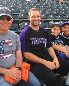 Eric attended Colorado Rockies vs. Pittsburgh Pirates - MLB on Aug 6th 2018 via VetTix