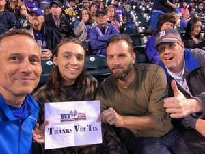 Tom attended Colorado Rockies vs. San Diego Padres - MLB on Aug 21st 2018 via VetTix