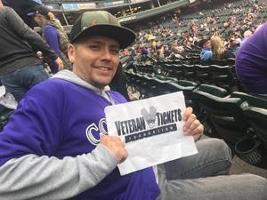 Santino attended Colorado Rockies vs. San Diego Padres - MLB on Aug 21st 2018 via VetTix