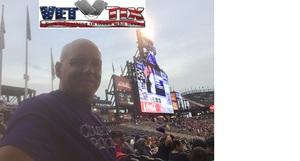 Jonathan attended Colorado Rockies vs. San Diego Padres - MLB on Aug 21st 2018 via VetTix