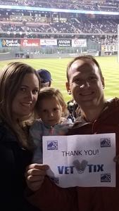 Dave S. attended Colorado Rockies vs. San Diego Padres - MLB on Aug 21st 2018 via VetTix