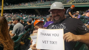 Marc attended Colorado Rockies vs San Diego Padres - MLB on Aug 23rd 2018 via VetTix