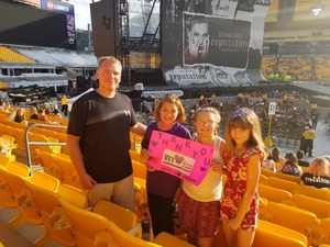 FRANK attended Taylor Swift Reputation Stadium Tour on Aug 7th 2018 via VetTix