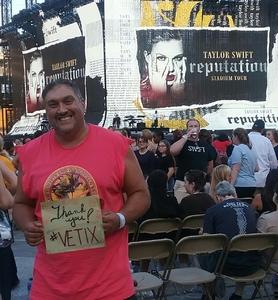 Jason attended Taylor Swift Reputation Stadium Tour on Aug 7th 2018 via VetTix