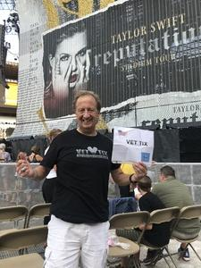 Richard attended Taylor Swift Reputation Stadium Tour on Aug 7th 2018 via VetTix