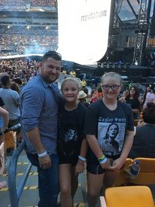 Chad attended Taylor Swift Reputation Stadium Tour on Aug 7th 2018 via VetTix