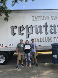 Kenneth attended Taylor Swift Reputation Stadium Tour on Aug 7th 2018 via VetTix
