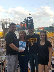 Kirk attended Taylor Swift Reputation Stadium Tour on Aug 7th 2018 via VetTix