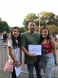 Efren attended Niall Horan: Flicker World Tour 2018 on Aug 31st 2018 via VetTix