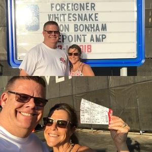Mike attended Jukebox Heroes Foreigner with Whitesnake, Jason Bonham's Led Zeppelin - Reserved Seats on Aug 1st 2018 via VetTix