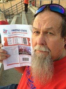 David attended Fresno State Bulldogs vs. Wyoming - NCAA Football on Oct 13th 2018 via VetTix