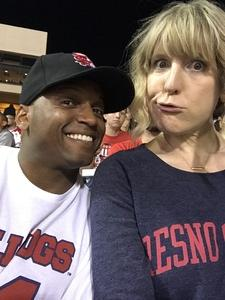 Gerald attended Fresno State Bulldogs vs. Wyoming - NCAA Football on Oct 13th 2018 via VetTix