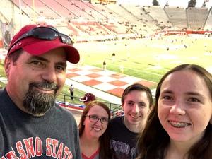 Jason attended Fresno State Bulldogs vs. Wyoming - NCAA Football on Oct 13th 2018 via VetTix