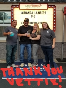 Thomas attended Miranda Lambert and Little Big Town: the Bandwagon Tour - Country on Aug 3rd 2018 via VetTix