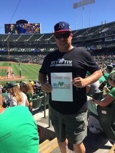 STEVE attended Oakland Athletics vs. Texas Rangers - MLB on Sep 8th 2018 via VetTix