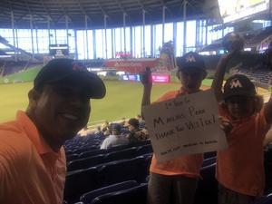 Kenneth attended Miami Marlins vs. Atlanta Braves - MLB on Aug 26th 2018 via VetTix