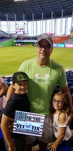 Kirk attended Miami Marlins vs. Atlanta Braves - MLB on Aug 26th 2018 via VetTix