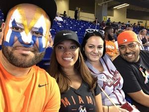 MARY attended Miami Marlins vs. Atlanta Braves - MLB on Aug 26th 2018 via VetTix