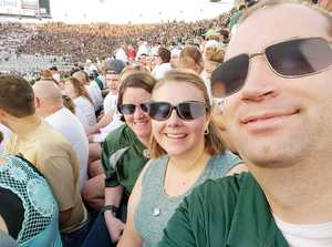 Jedidiah attended Michigan State Spartans vs. Utah State Aggies - NCAA Football on Aug 31st 2018 via VetTix