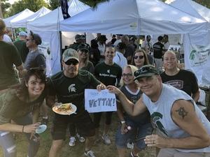 Thomas attended Michigan State Spartans vs. Utah State Aggies - NCAA Football on Aug 31st 2018 via VetTix