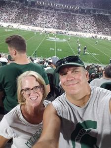 nicholas attended Michigan State Spartans vs. Utah State Aggies - NCAA Football on Aug 31st 2018 via VetTix
