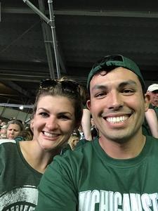 Romy L attended Michigan State Spartans vs. Utah State Aggies - NCAA Football on Aug 31st 2018 via VetTix