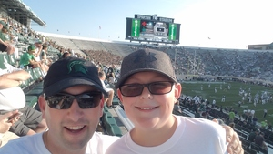 Jonathon attended Michigan State Spartans vs. Utah State Aggies - NCAA Football on Aug 31st 2018 via VetTix