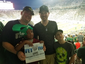 Brandon attended Michigan State Spartans vs. Utah State Aggies - NCAA Football on Aug 31st 2018 via VetTix
