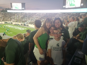 Dawn attended Michigan State Spartans vs. Utah State Aggies - NCAA Football on Aug 31st 2018 via VetTix