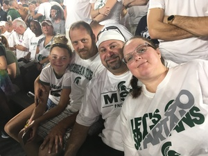 Kristy attended Michigan State Spartans vs. Utah State Aggies - NCAA Football on Aug 31st 2018 via VetTix