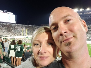 Britt attended Michigan State Spartans vs. Utah State Aggies - NCAA Football on Aug 31st 2018 via VetTix