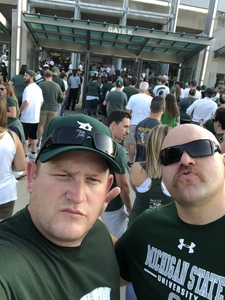michael attended Michigan State Spartans vs. Utah State Aggies - NCAA Football on Aug 31st 2018 via VetTix