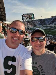 Karl attended Michigan State Spartans vs. Utah State Aggies - NCAA Football on Aug 31st 2018 via VetTix
