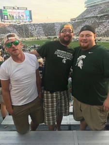 Richard attended Michigan State Spartans vs. Utah State Aggies - NCAA Football on Aug 31st 2018 via VetTix