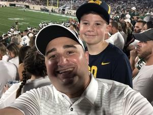 Adrian attended Michigan State Spartans vs. Utah State Aggies - NCAA Football on Aug 31st 2018 via VetTix