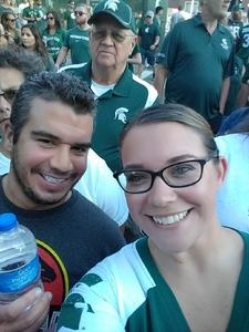 Laura attended Michigan State Spartans vs. Utah State Aggies - NCAA Football on Aug 31st 2018 via VetTix