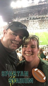Nick attended Michigan State Spartans vs. Utah State Aggies - NCAA Football on Aug 31st 2018 via VetTix