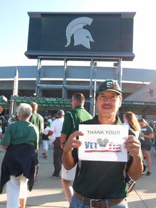 Gucci attended Michigan State Spartans vs. Utah State Aggies - NCAA Football on Aug 31st 2018 via VetTix