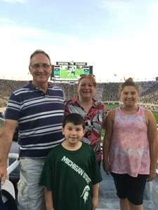 Don attended Michigan State Spartans vs. Utah State Aggies - NCAA Football on Aug 31st 2018 via VetTix