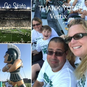 Teresa attended Michigan State Spartans vs. Utah State Aggies - NCAA Football on Aug 31st 2018 via VetTix