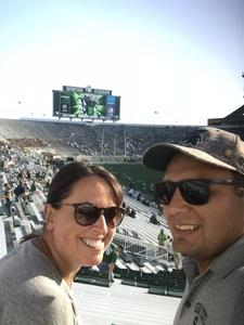Wayne attended Michigan State Spartans vs. Utah State Aggies - NCAA Football on Aug 31st 2018 via VetTix