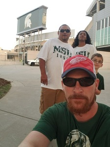 Tyler attended Michigan State Spartans vs. Utah State Aggies - NCAA Football on Aug 31st 2018 via VetTix